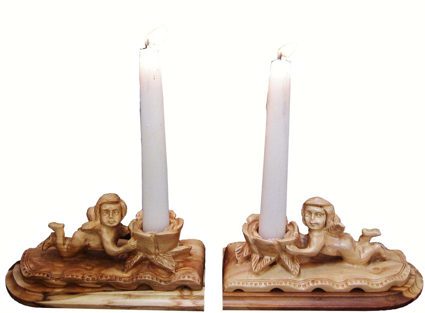 ANGELS CANDLE-HOLDER (left & right)