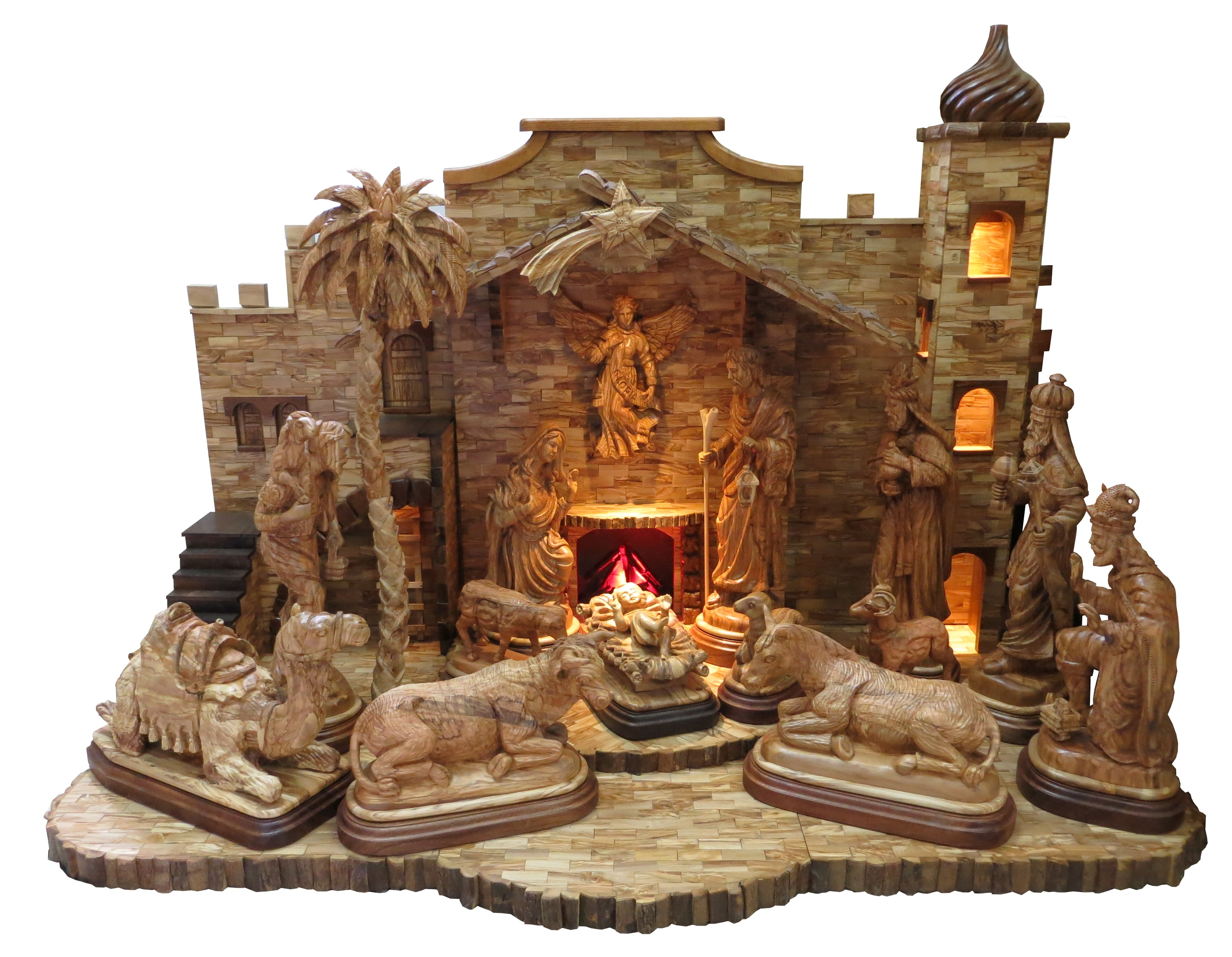 HUGE NATIVITY SET WITH SATBLE
