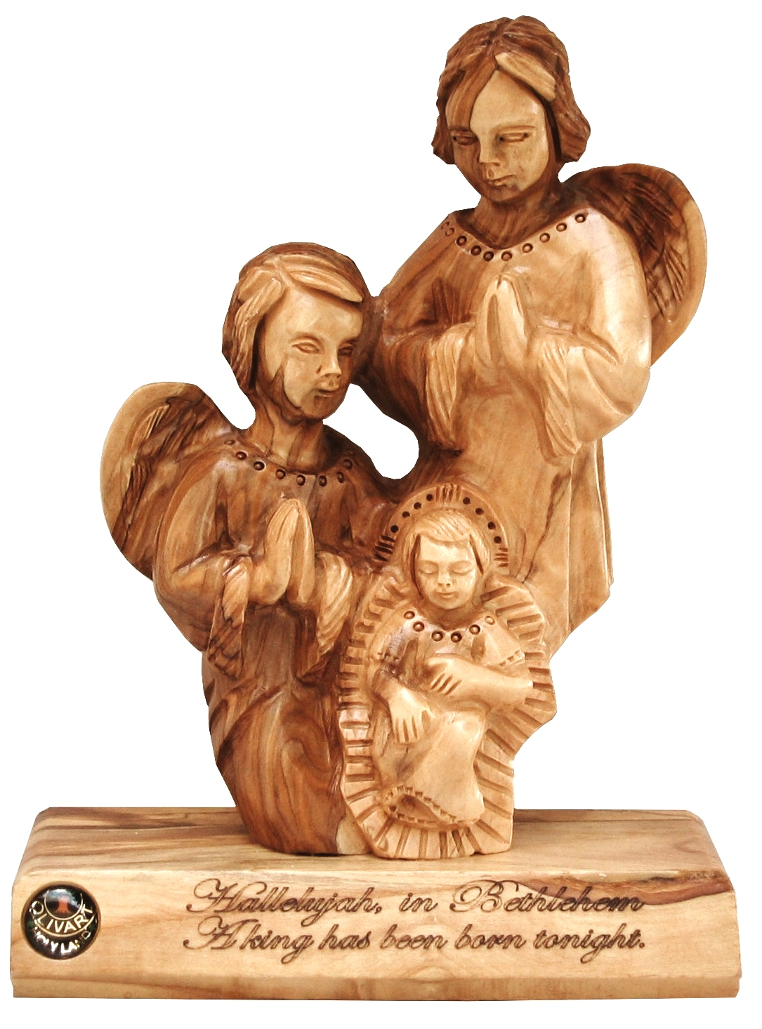 LARGE ANGELS WITH BABY JESUS - TABLE PLAQUE