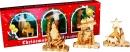 3 Christmas ornaments in a decorative box