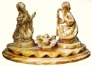 3 pcs. Holy Family on a pedestal