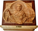 BASS RELIEF ICON OF ST. NICOLAS - SMALL