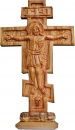 BASS RELIEF RUSSIAN CROSS - SMALL WITH BASE