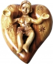 Baby Jesus sleeping in a heart