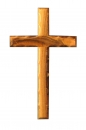 Beveled edge Cross 16cm.