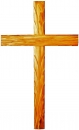 Cross with carved thorns-75cm