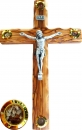 Crucifix with 4 containers. 25cm.