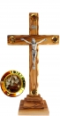 Crucifix with pedestal & 4 containers - 22cm.