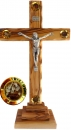 Crucifix with pedestal & 4 containers - 27cm.