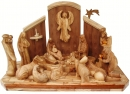 NATIVITY SET WITH SATBLE , UNIQUE MODERN ART