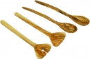 OLIVE WOOD SET 4 PISCES