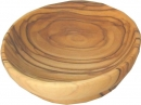 OLIVE WOOD SNACK PLATE - ROUND