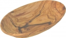 OLIVE WOOD SNACK PLATE - OVAL