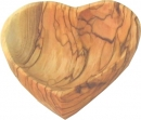 OLIVE WOOD SNACK PLATE - HART SHAPE