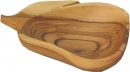 OLIVE WOOD SNACK PLATE - PEAR SHAPE