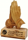 Praying hands table plaque- Large