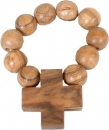 ROSARY ( Olive wood ) FOR FINGER