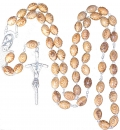 ROSARY ( Olive wood )  ( Water or soil center )  12 PIECES