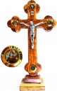 Roman Cricifix with pedestal & 4 containers -27cm