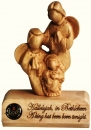 BABY JESUS WITH TWO ANGELS TABLE PLAQUE (Modern art-mini)
