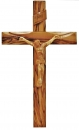 OLIVE WOOD CROSS WITH WOODEN CORPUS